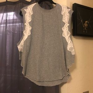 Free People - We The Free Grey Top size M